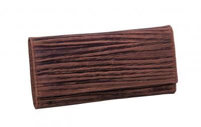 ERBE Manicure-Etui Wood braun 5tlg Druckknopf
