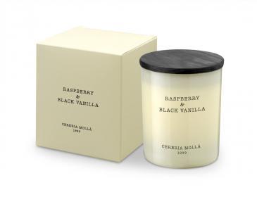 Premium Kerze Raspberry and Black Vanilla